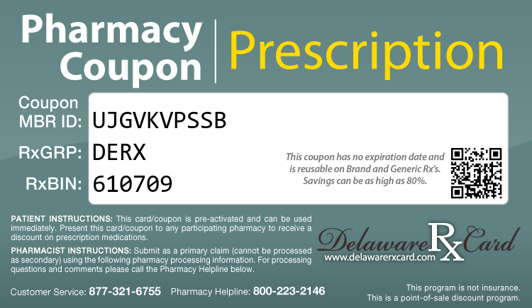 Delaware Rx Card - Free Prescription Drug Coupon Card